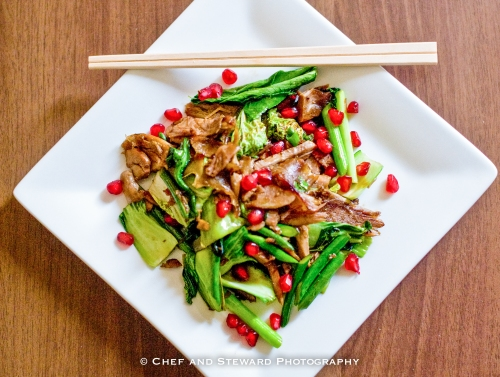 Chinese Duck Stir Fry with Pomegranate-2