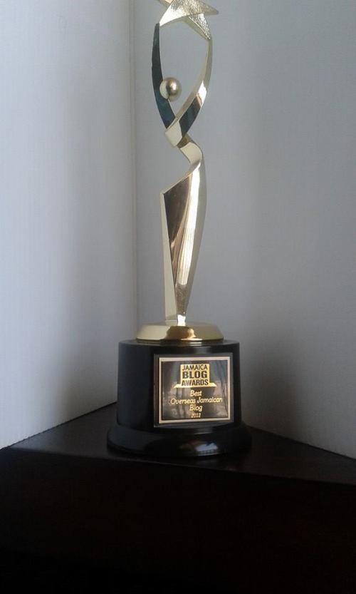 Jamaica Blog Awards Trophy