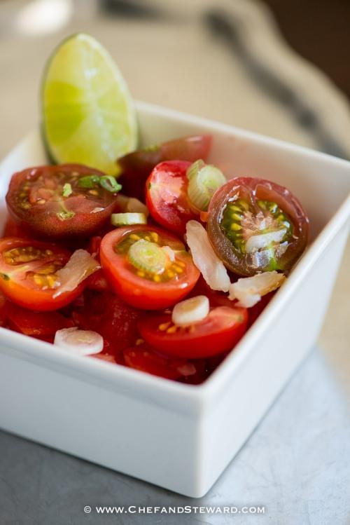 Jamaican Saltfish Salad and Roasted Garlic & Spring Onion Mashed Potatoes-2